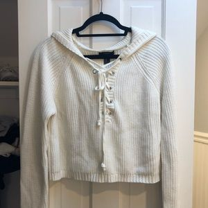 FOREVER 21 CROPPED HOODED SWEATER
